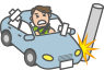 他の自動車に搭乗中の事故